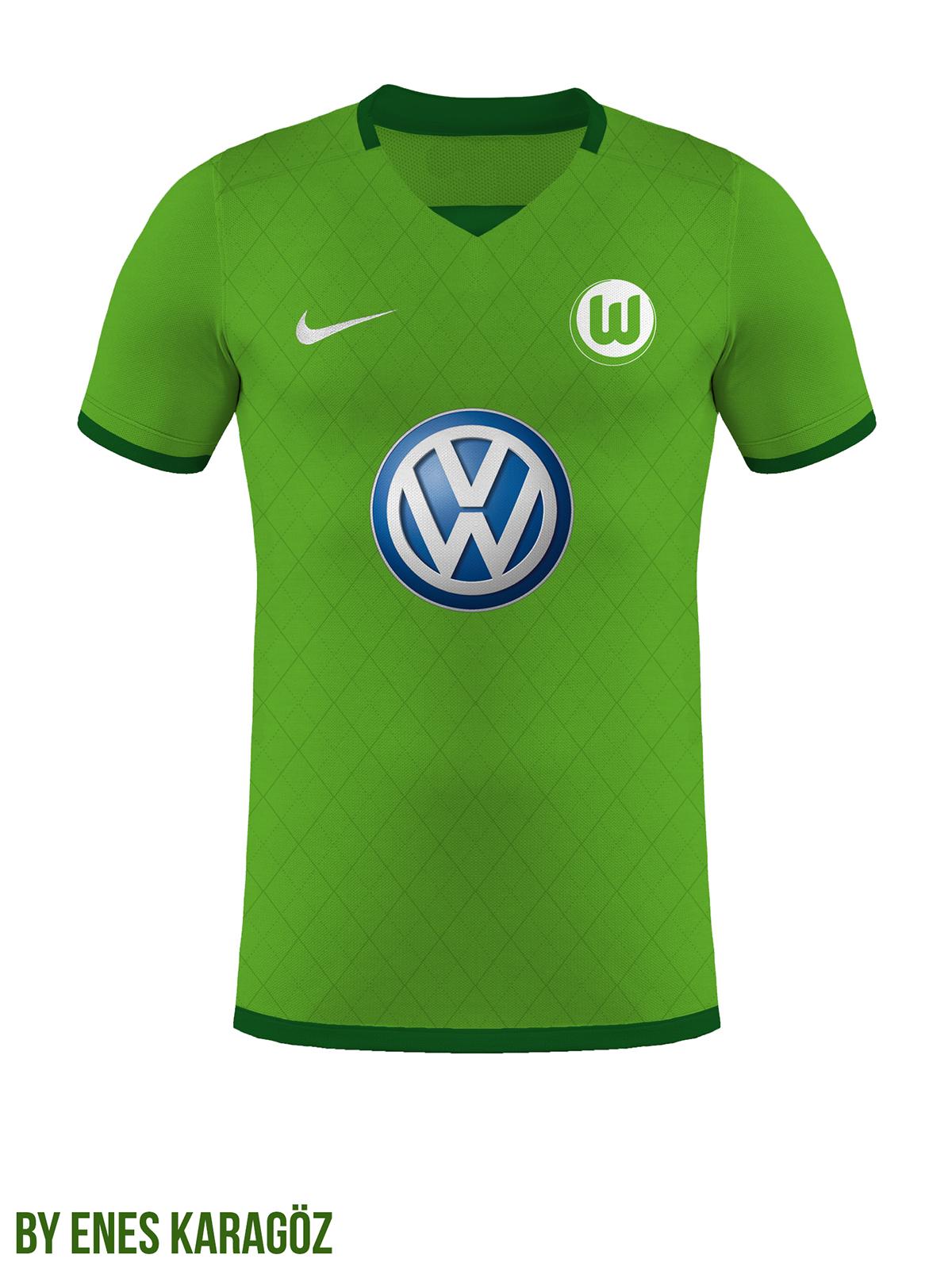 brand new b3a19 74508 VfL Wolfsburg Football Kits Home/Away on Behance