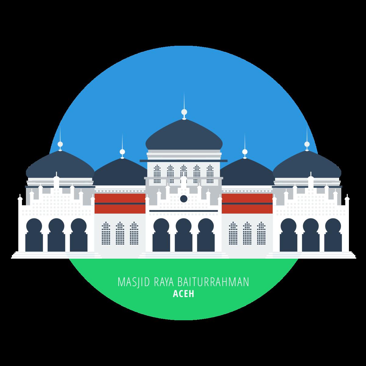 Masjid Agung Banten Vector Nusagates