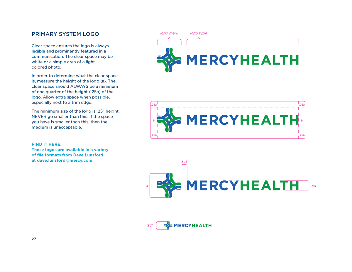 Mercy Health Brand Guidelines On Behance