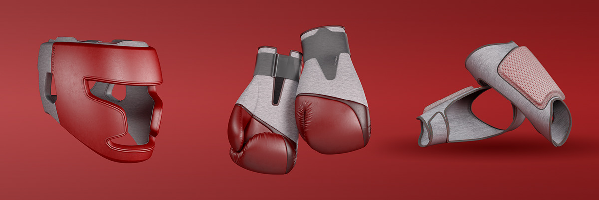 3D 3d modeling Boxe CGI design Render rendering sport STUDUO DESIGN