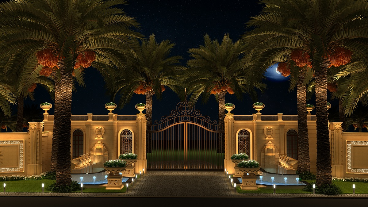 Palace Boundary Wall On Behance