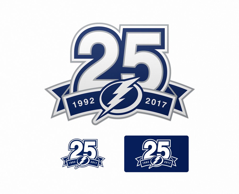 lightning 25th anniversary logo on behance 25th Wedding Anniversary Clip Art 25th Work Anniversary Clip Art