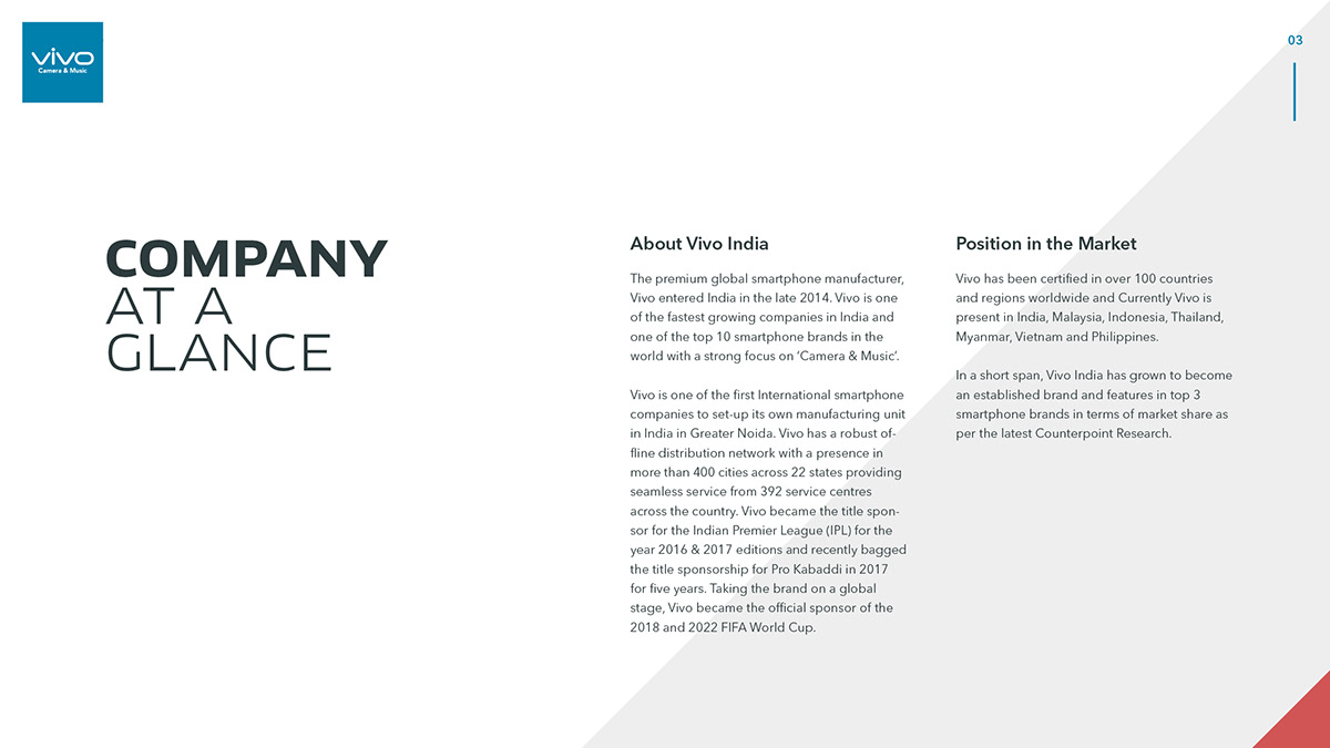 Presentation design for a major smartphone brand on Pantone