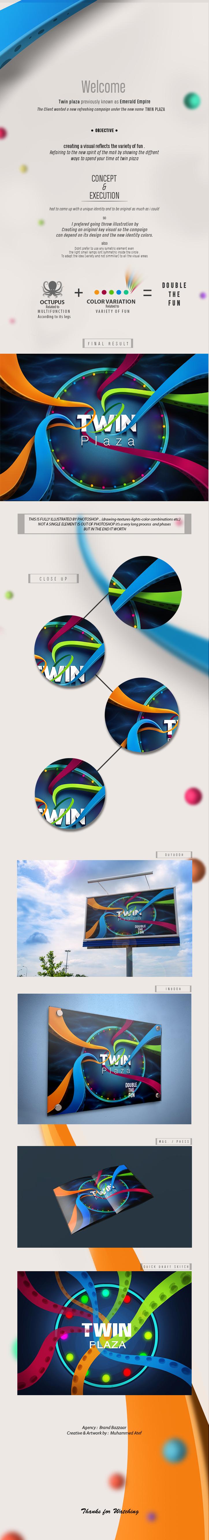 TWIN PLAZA Key Visual on Behance