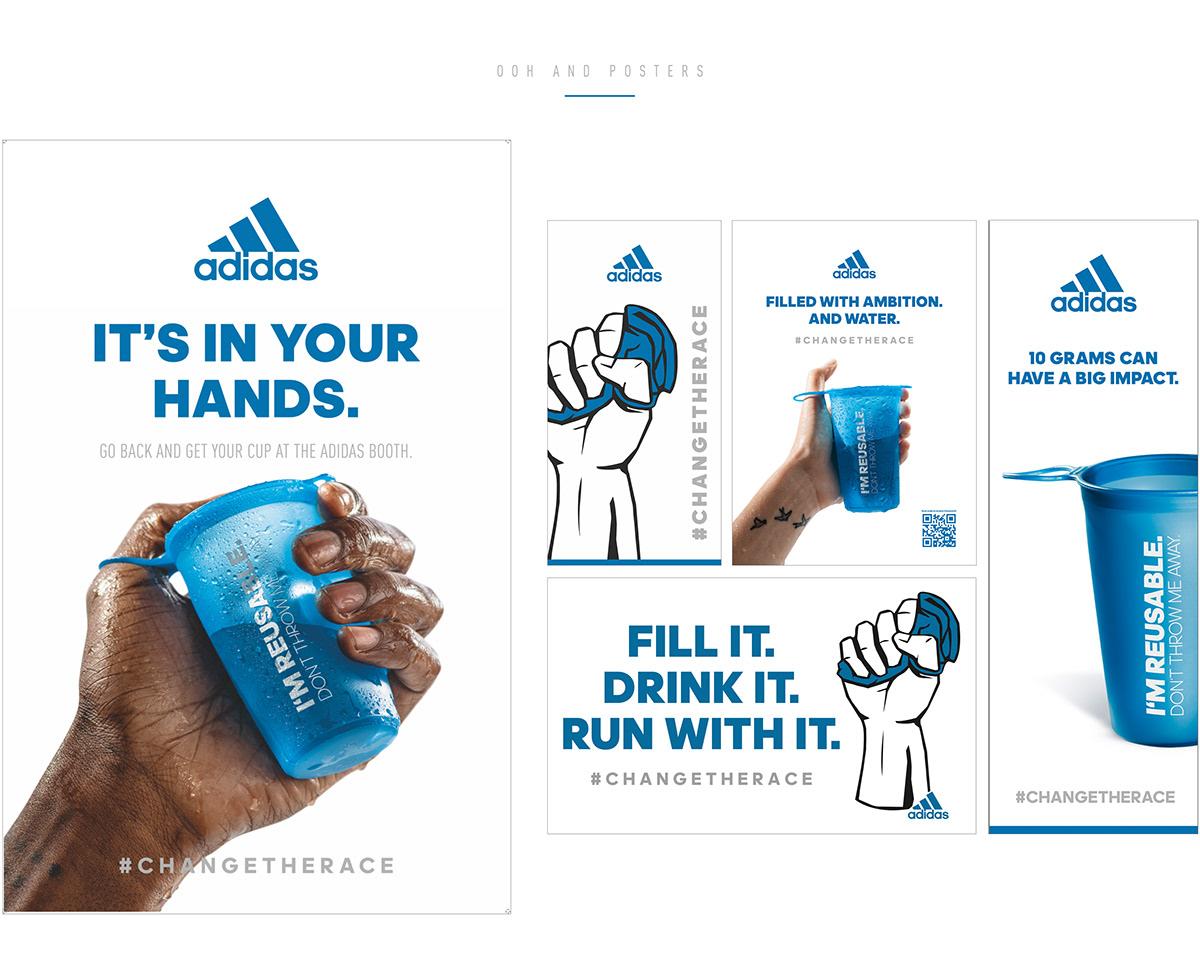 adidas,reusable,Marathon,Reusable cup ,Sustainability,recycling,environment,pollution,plastic,stefano dessi