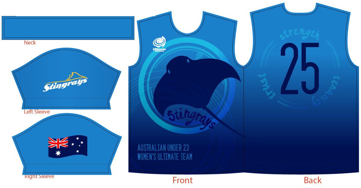 Ultimate jersey sports team design shirt stingray sport