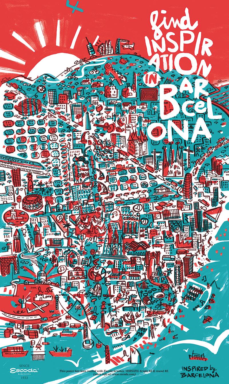 Barcelona mapposter on Behance
