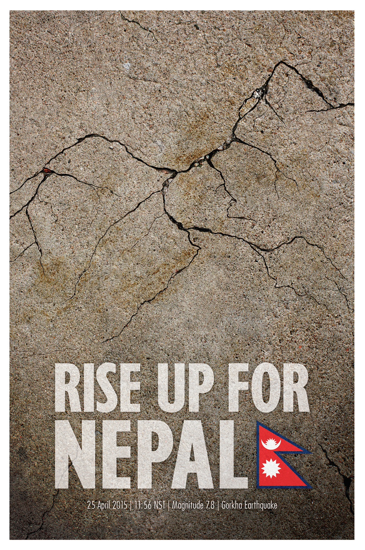 Nepal Earthquake Poster on Behance