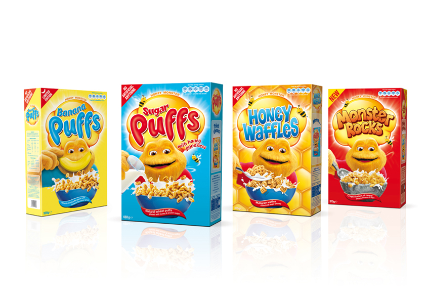Honey Monster Sugar Puffs – Packaging Design –  Archer Studio