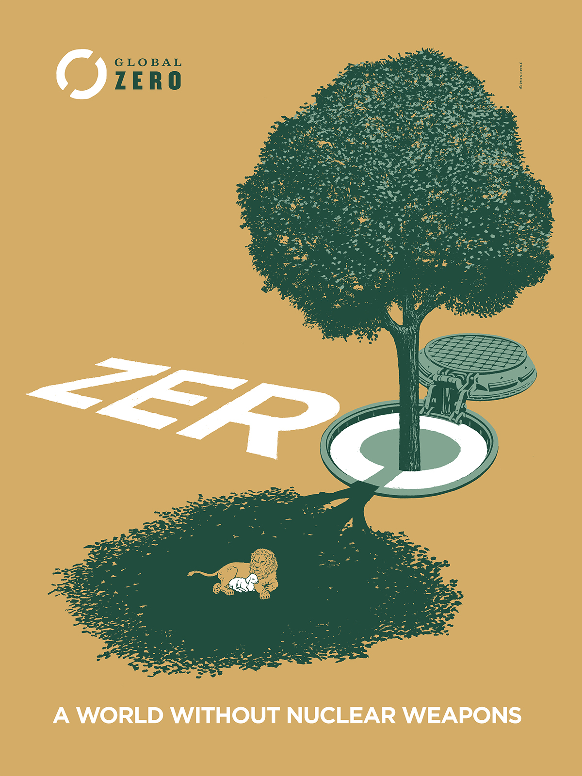 Global Zero A World Without Nuclear Weapons On Behance