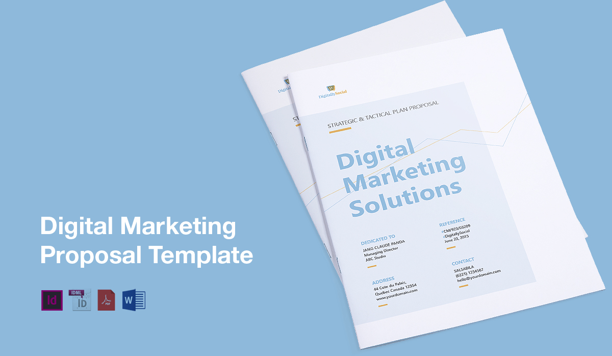 good writing skills research skills further and social media expertise this template help you to create the winning digital marketing proposal