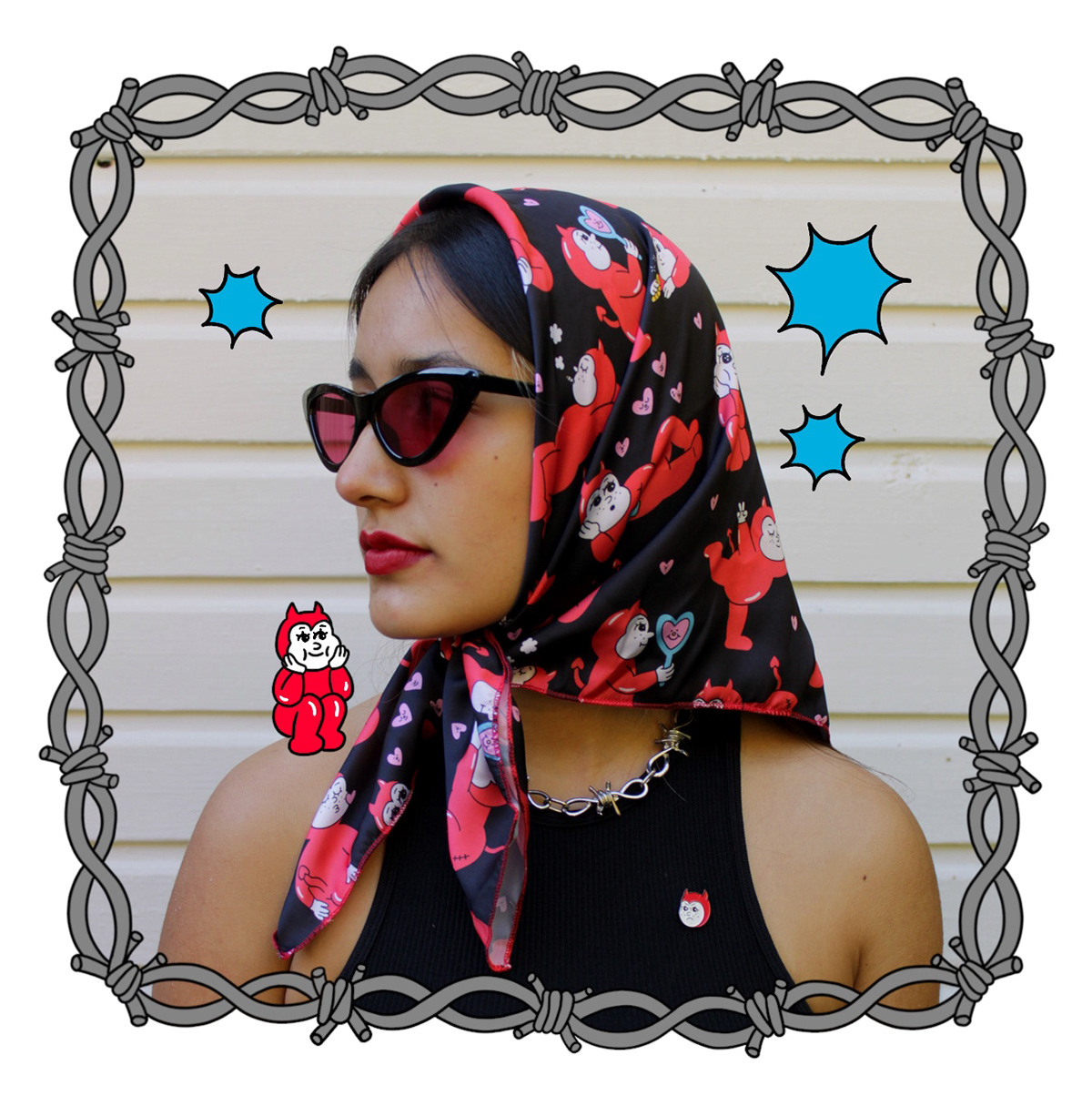 artichokat pattern printed girl moda