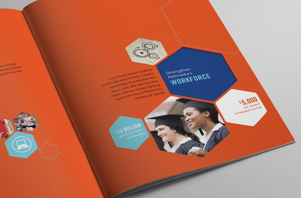 Nebraska Independent College Foundation Brochure on Behance – College Brochure