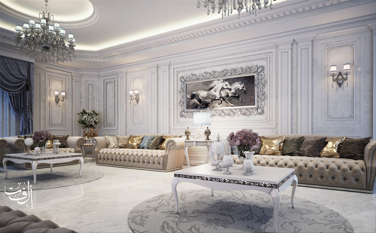 White Classic Majles On Behance