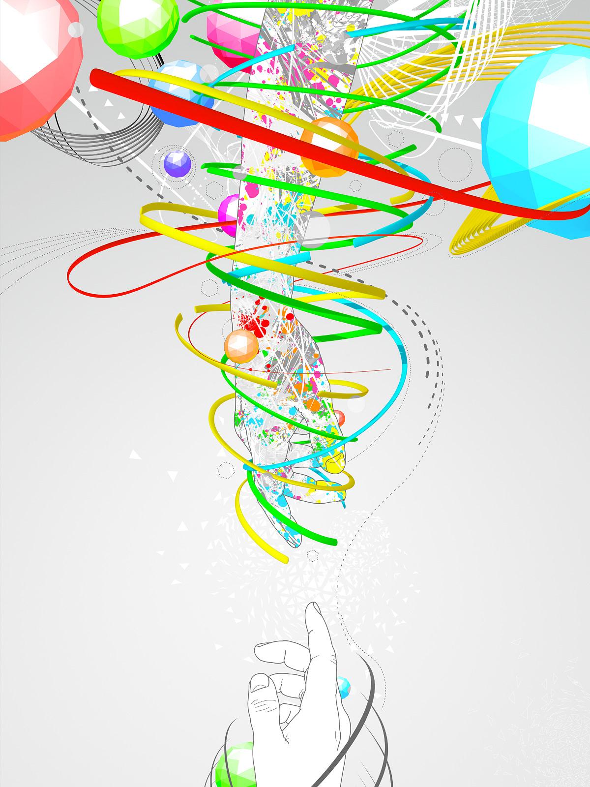 Digital illustration made as a poster for a design studio.