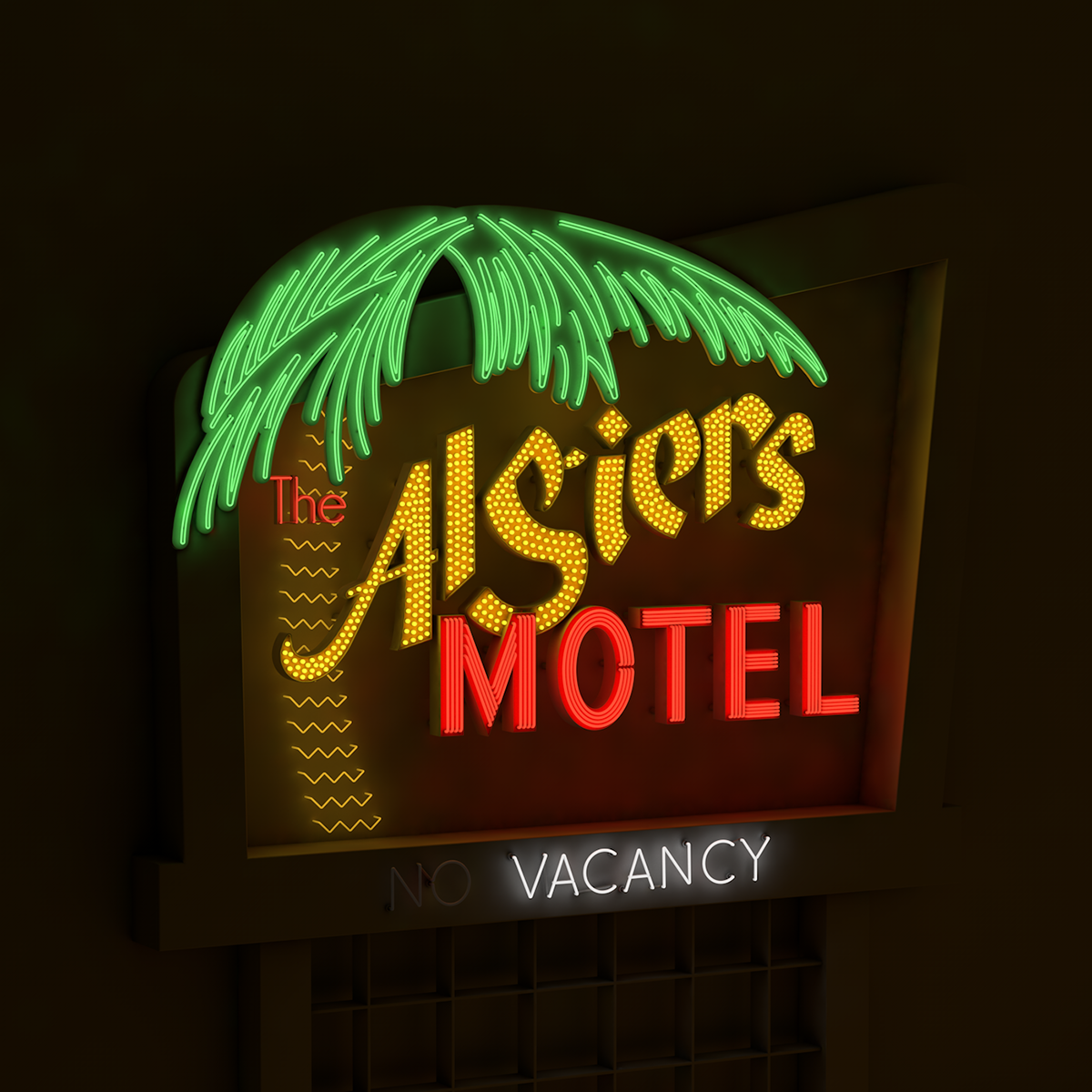 Algiers Motel Neon Sign On Behance