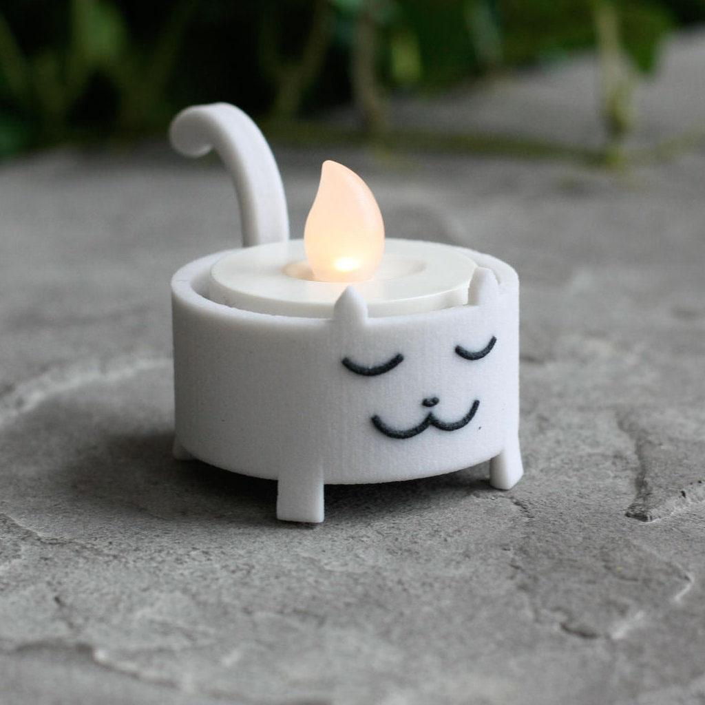 Cat tea light tealight cute