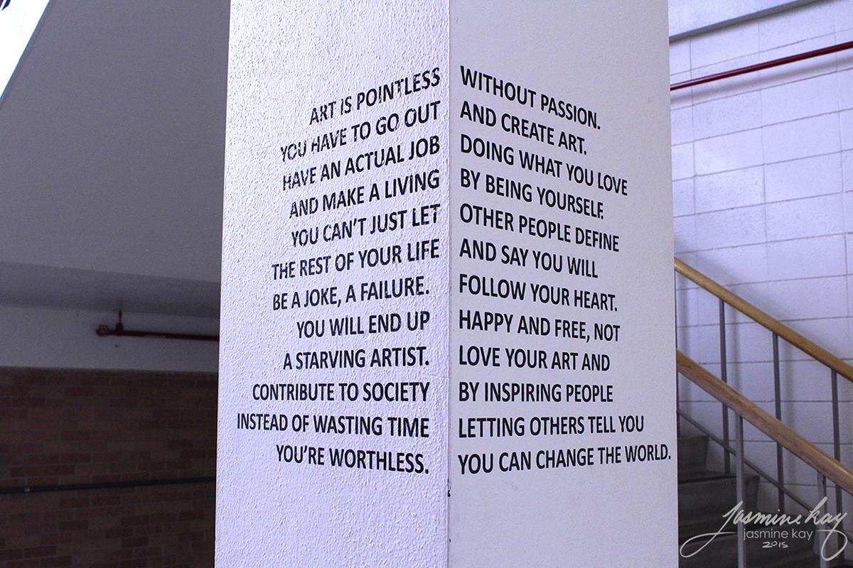 installation text sculpture 3d art