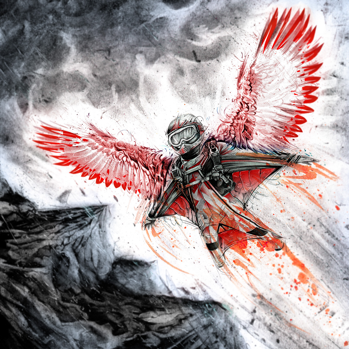 beast extreme sports tom manning wingsuit mountain Bike Jetski Snowboarding lion eagle Nike KTM adidas