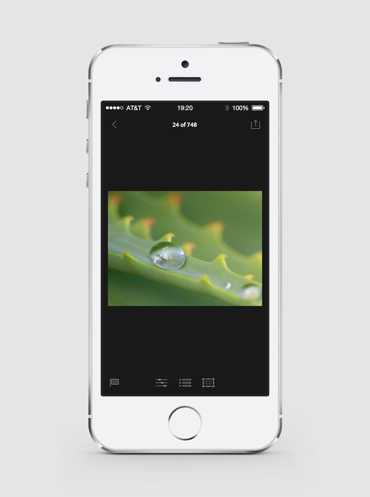 mobile design xD UI ux Mobile app adobe lightroom mobile