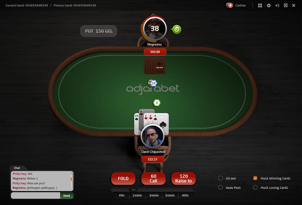Casino adjarabet poker betting tells betting calculator payout