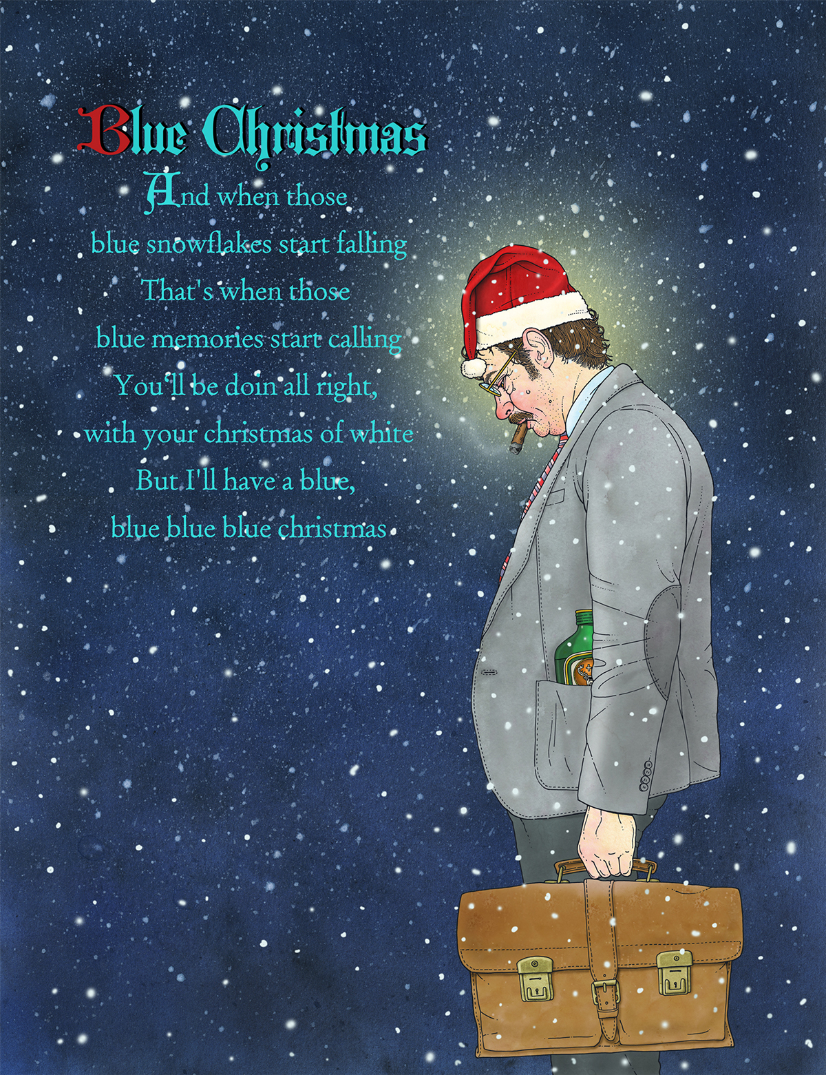 blue christmas on behance - I Ll Have A Blue Christmas