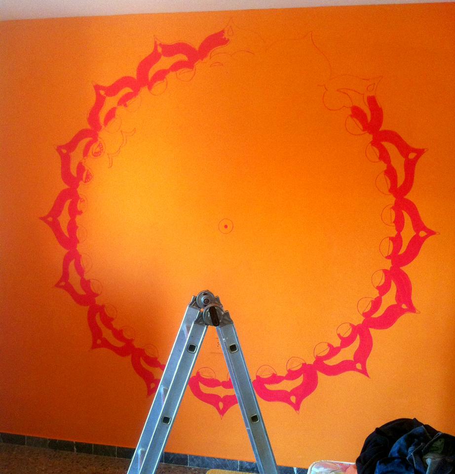 Mandala Wall Painting On Behance