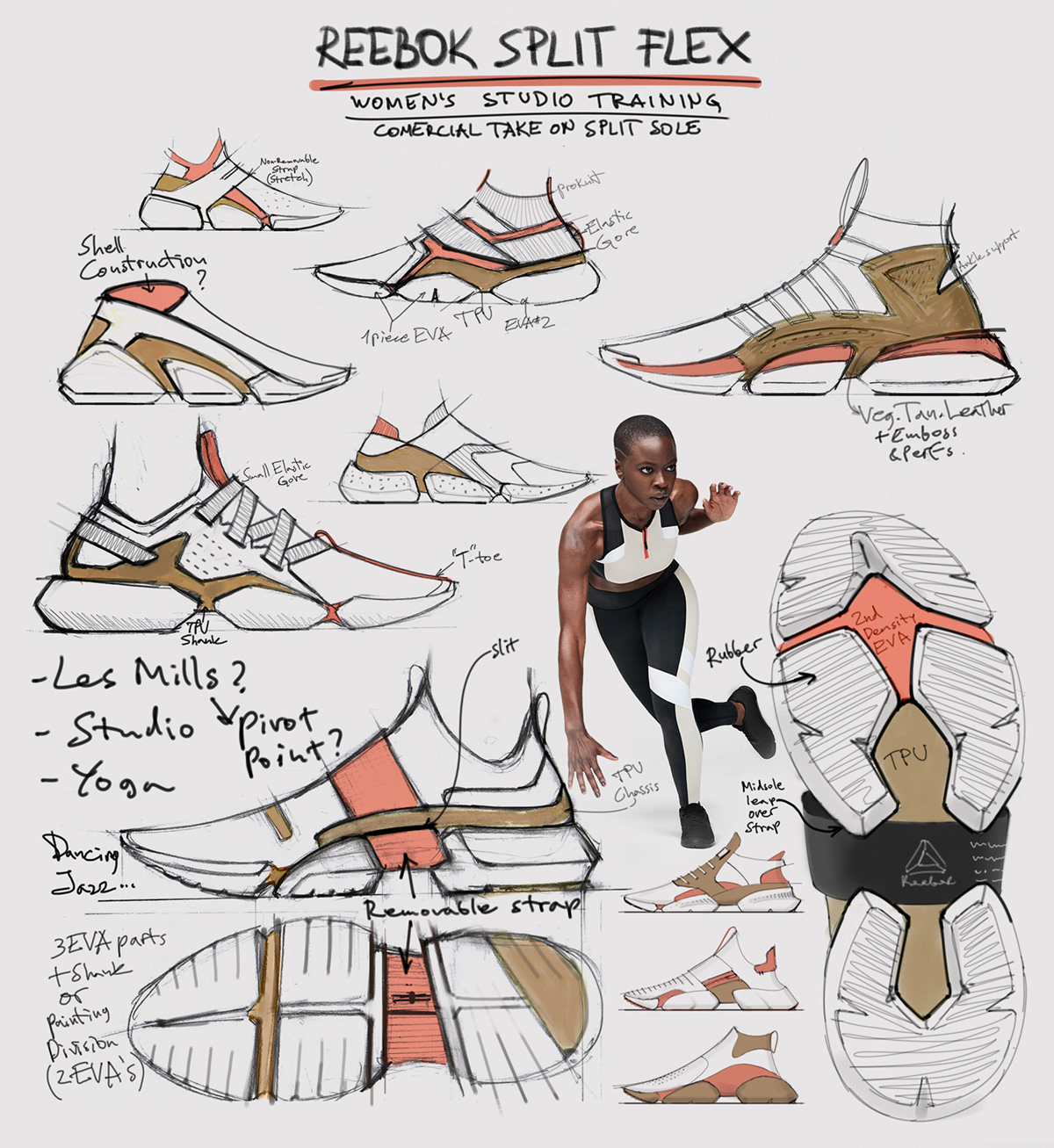 9824e175dd401 Reebok Split Flex on Behance