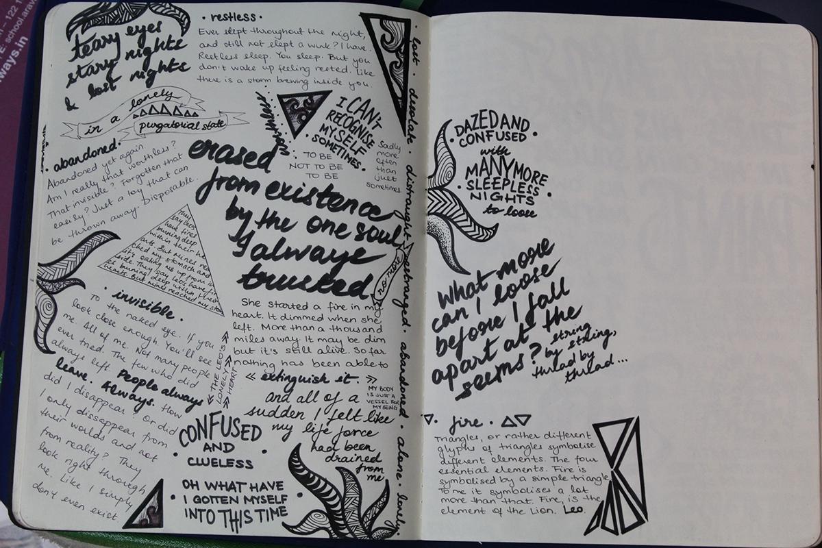 Grey sketch pad doodles Ananya Behera