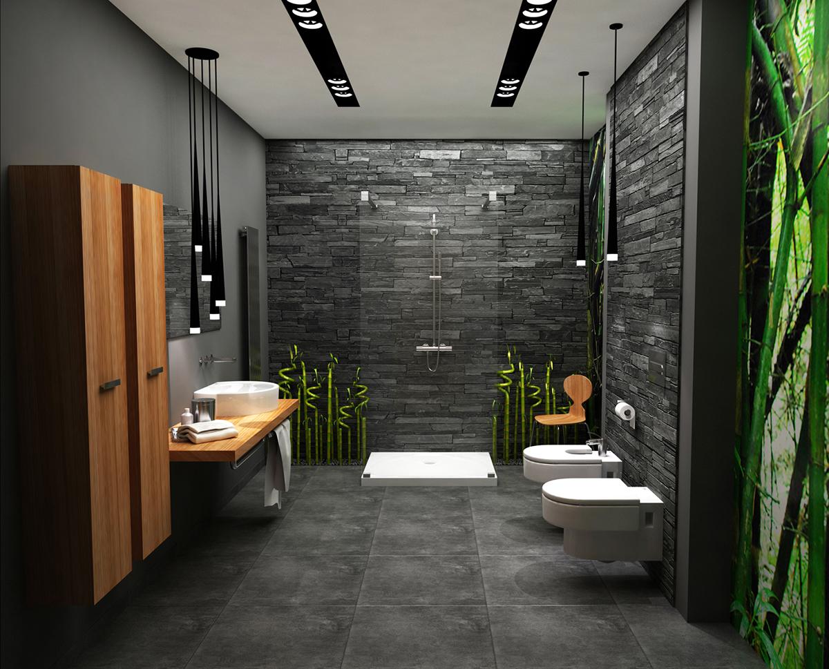 Grafitowa łazienka On Behance