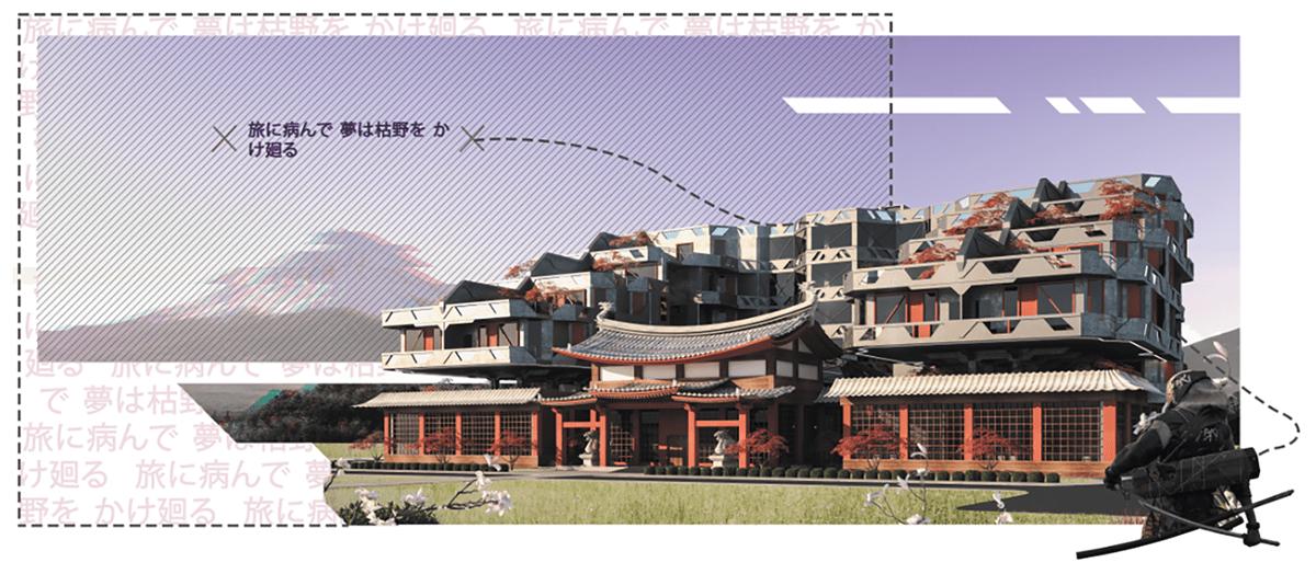 architecture design futuristic hotel Housing design japanese architecture student project