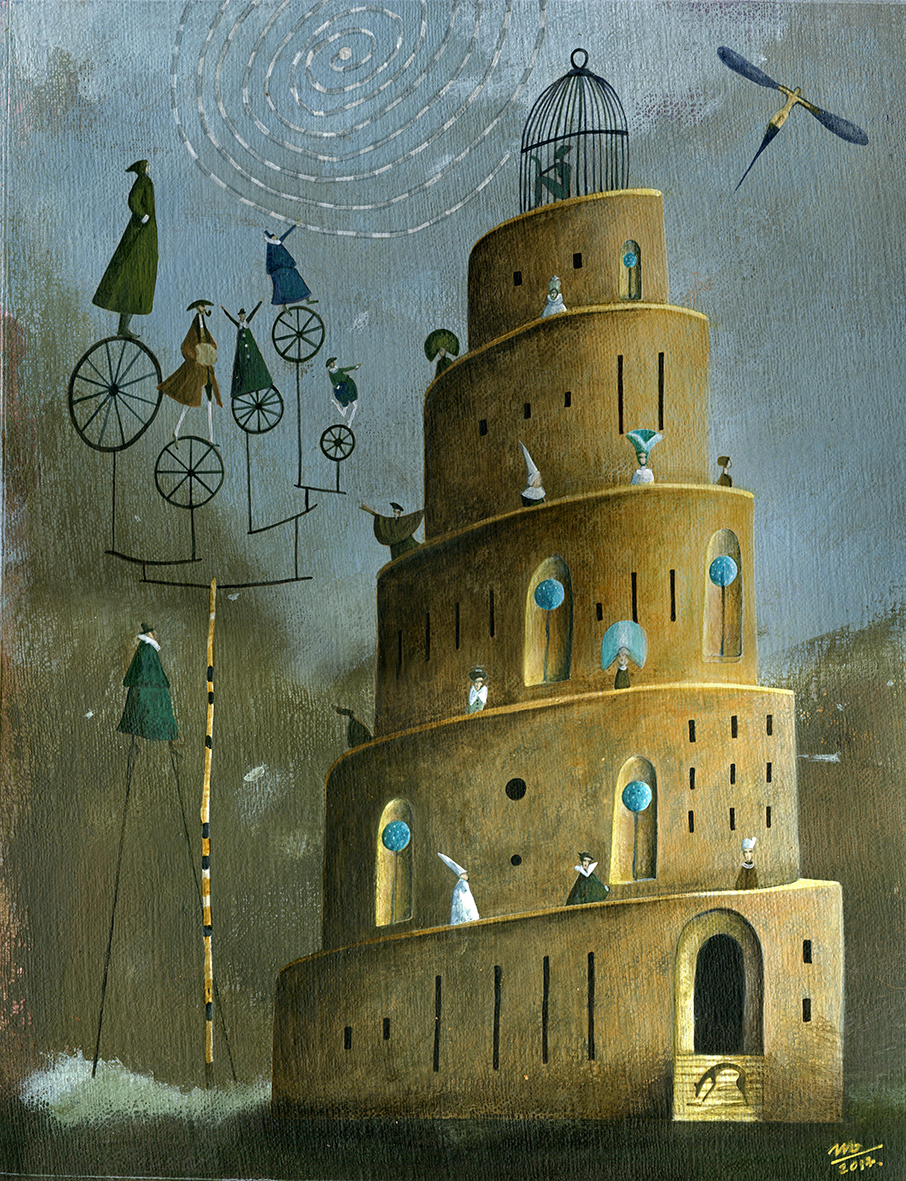 tower ILLUSTRATION  surreal fairytale Magic   enchanted painting   fine art color