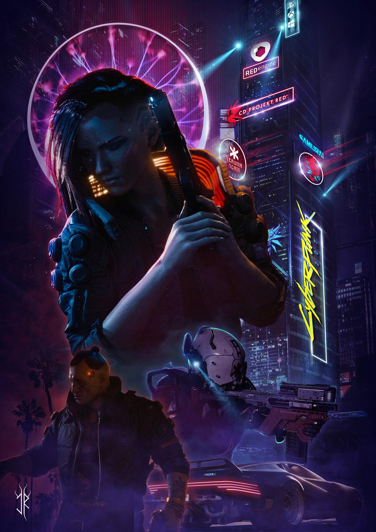 Cyberpunk 2077 - poster on Behance