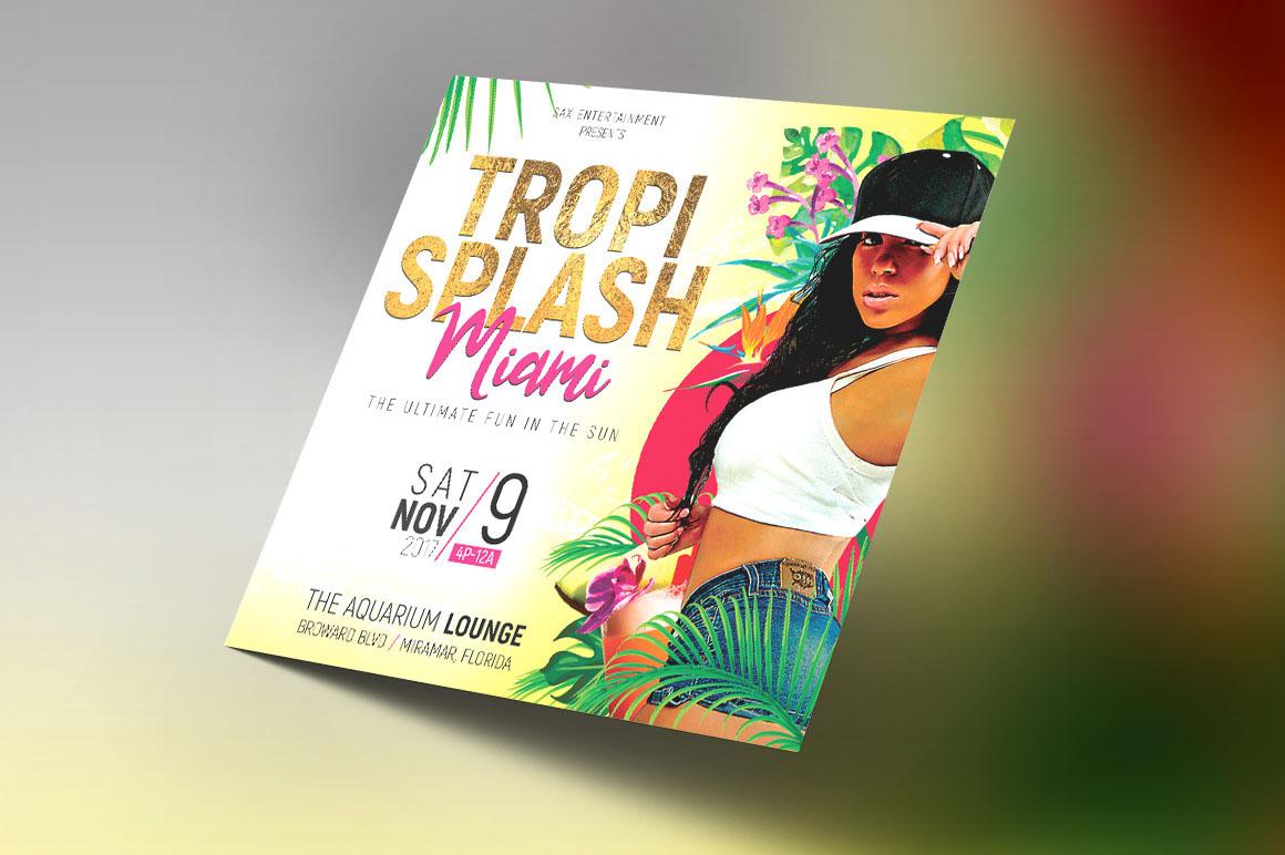 Tropical party small flyer template on behance saigontimesfo
