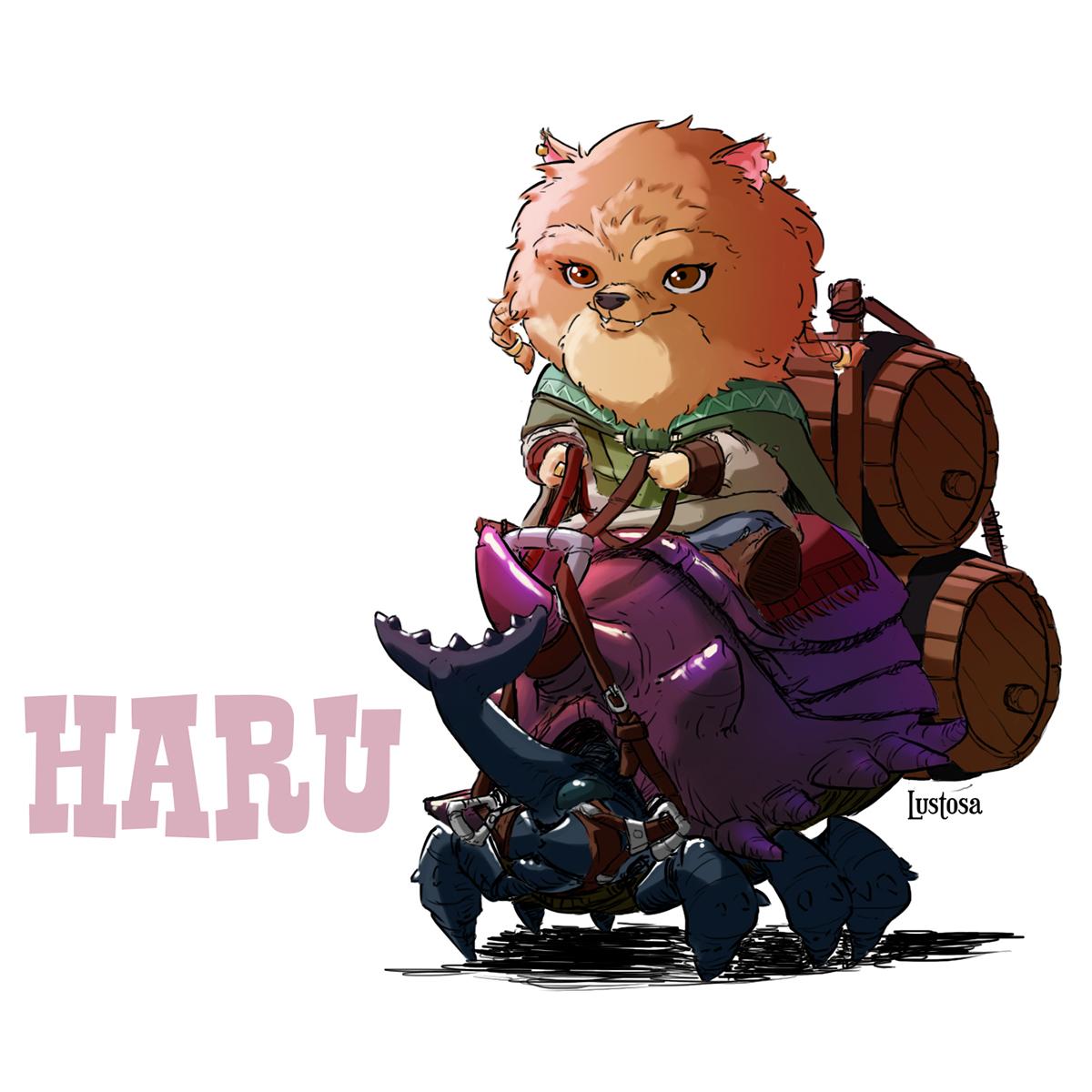 #character design #rabbit   #cat   #cartoon