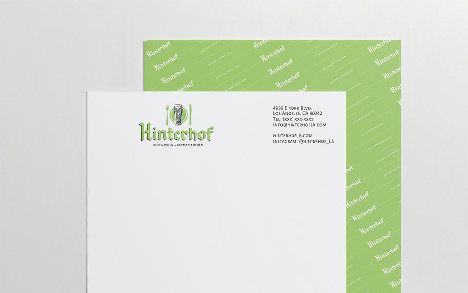 Hinterhof Branding On Behance