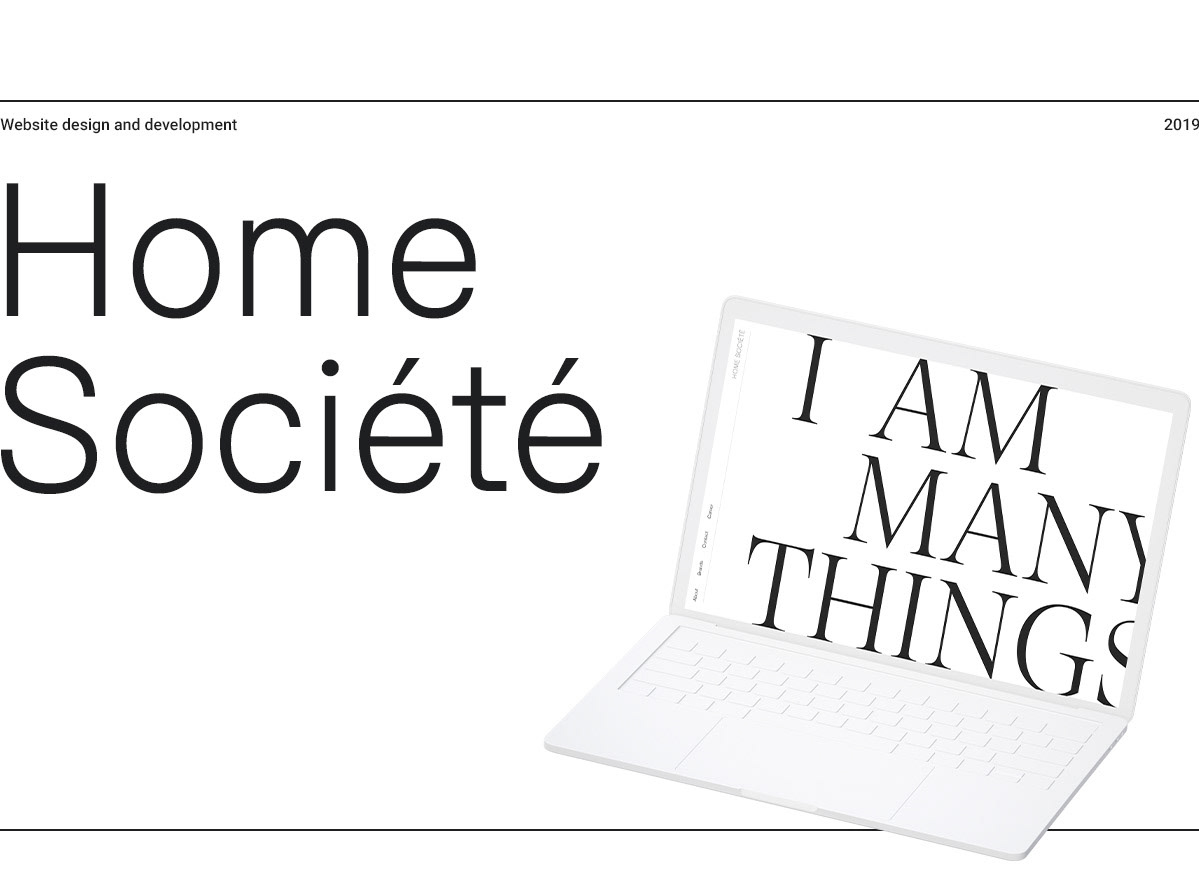 home société furniture Space  design must corbeil Montreal interactive typography