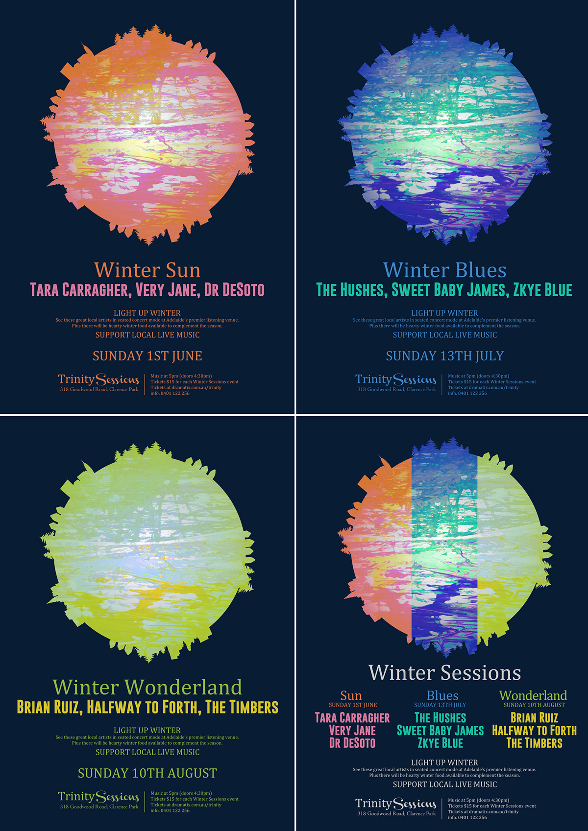 TRINITY SESSIONS - Winter Sessions, concert series 2014 on Behance