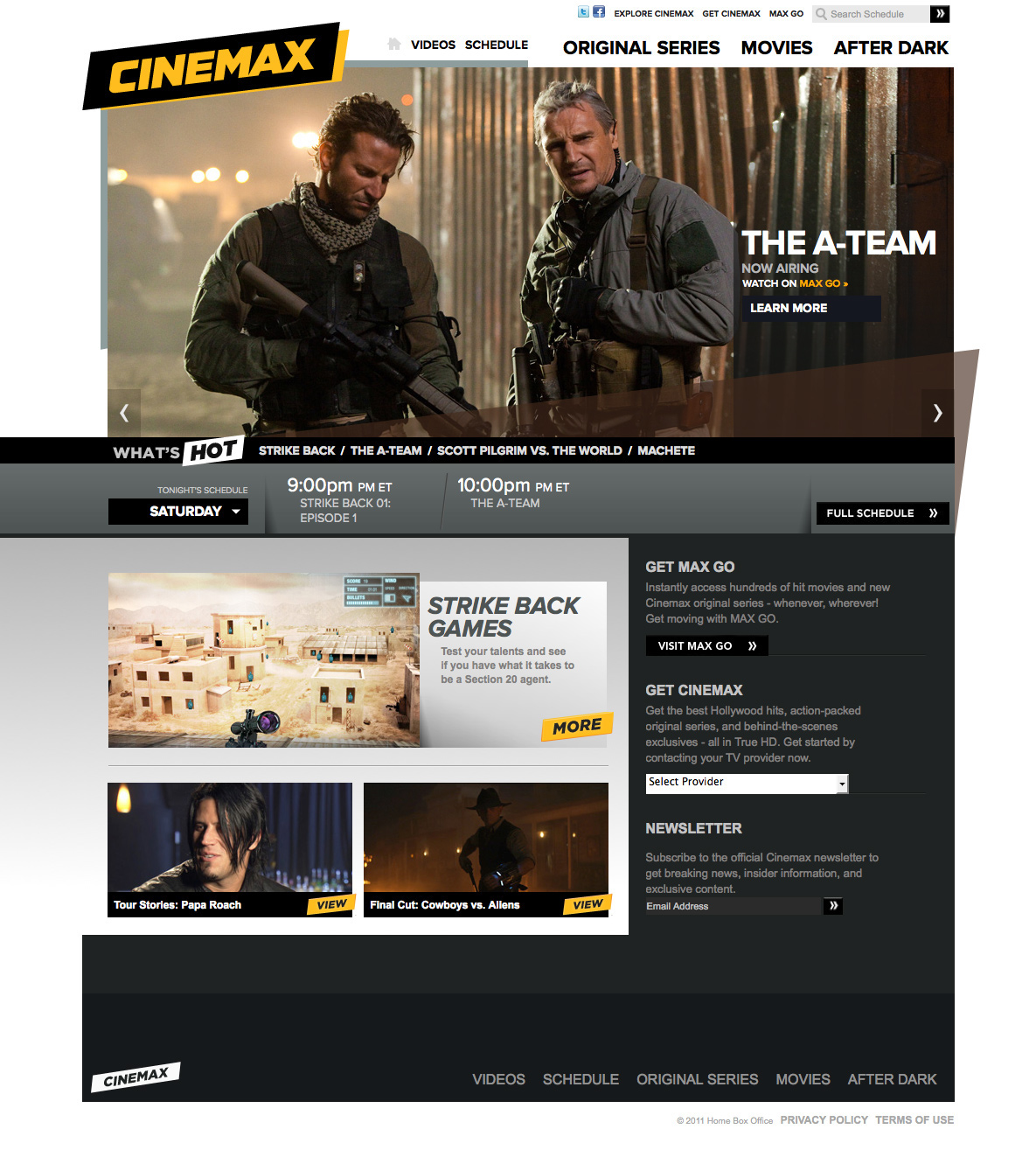 Cinemax com on Behance