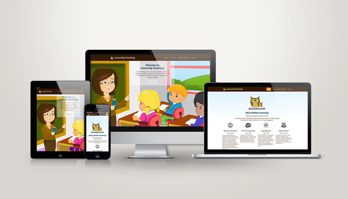 Responsive web design Scolling Website