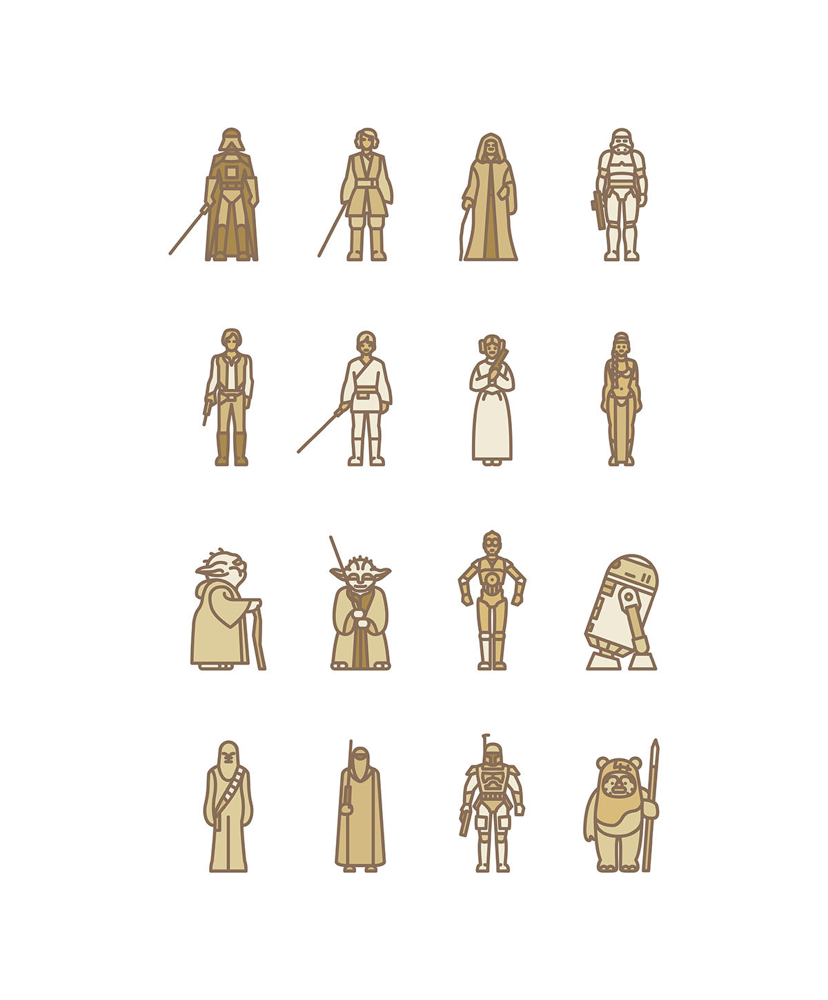 Star Wars Flat Icon Project On Behance