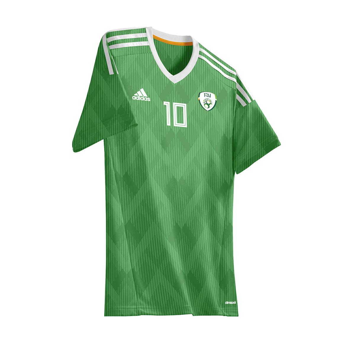 81e1de3e0328e Adidas Retro World Cup Jerseys Recreated on Behance