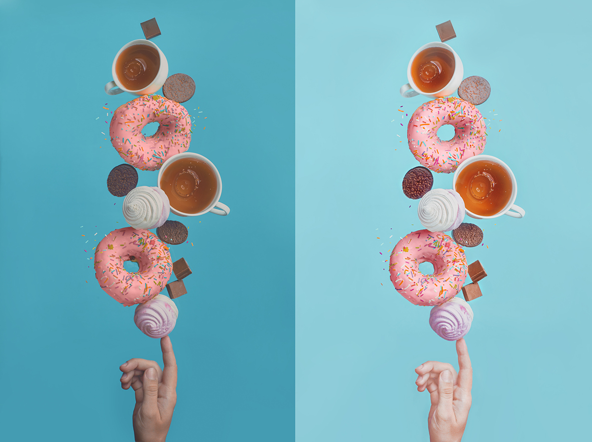 how to put images side by side in behance