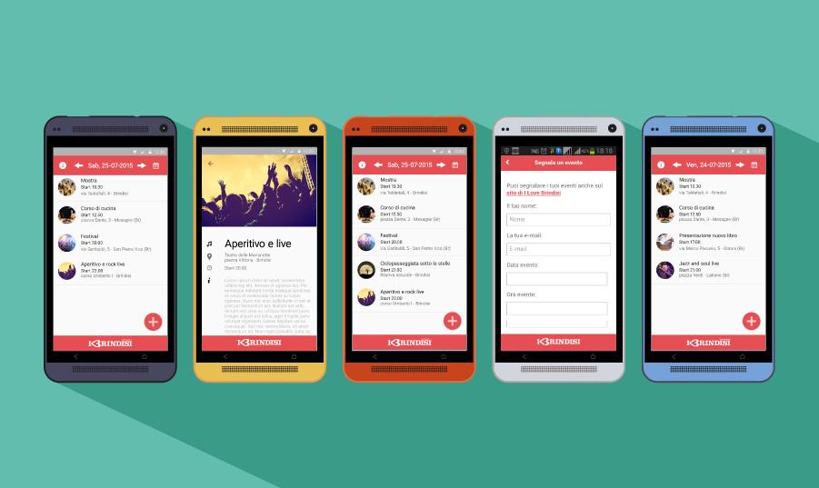 Mobile app,material design