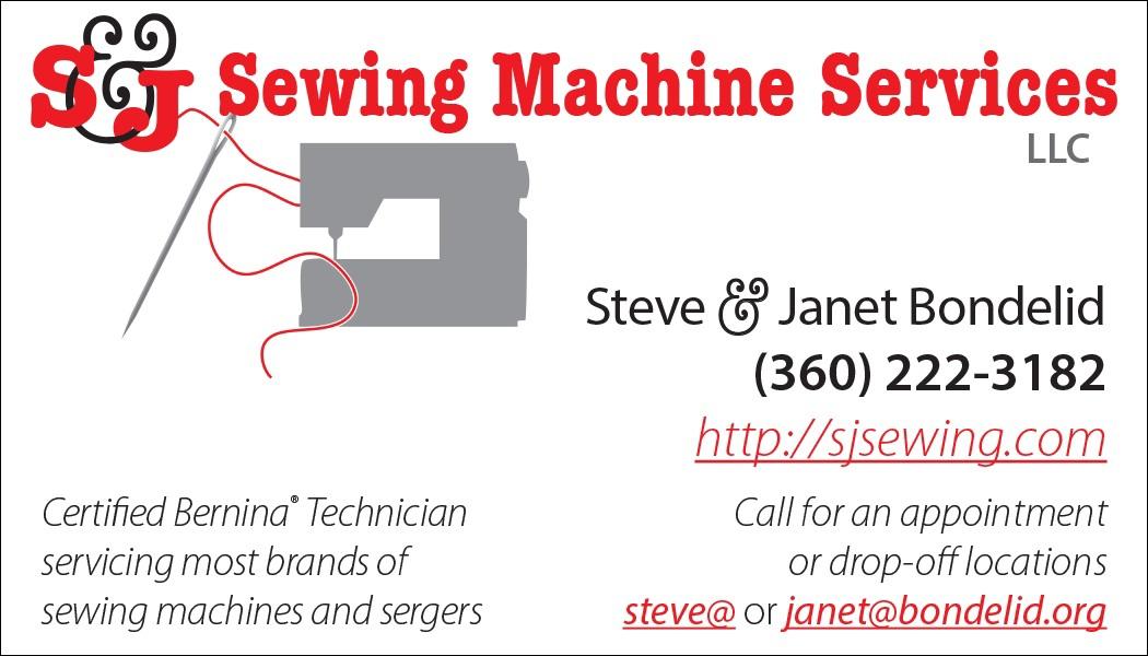 ms.morgan graphic design - S&J Sewing Machine Services brand