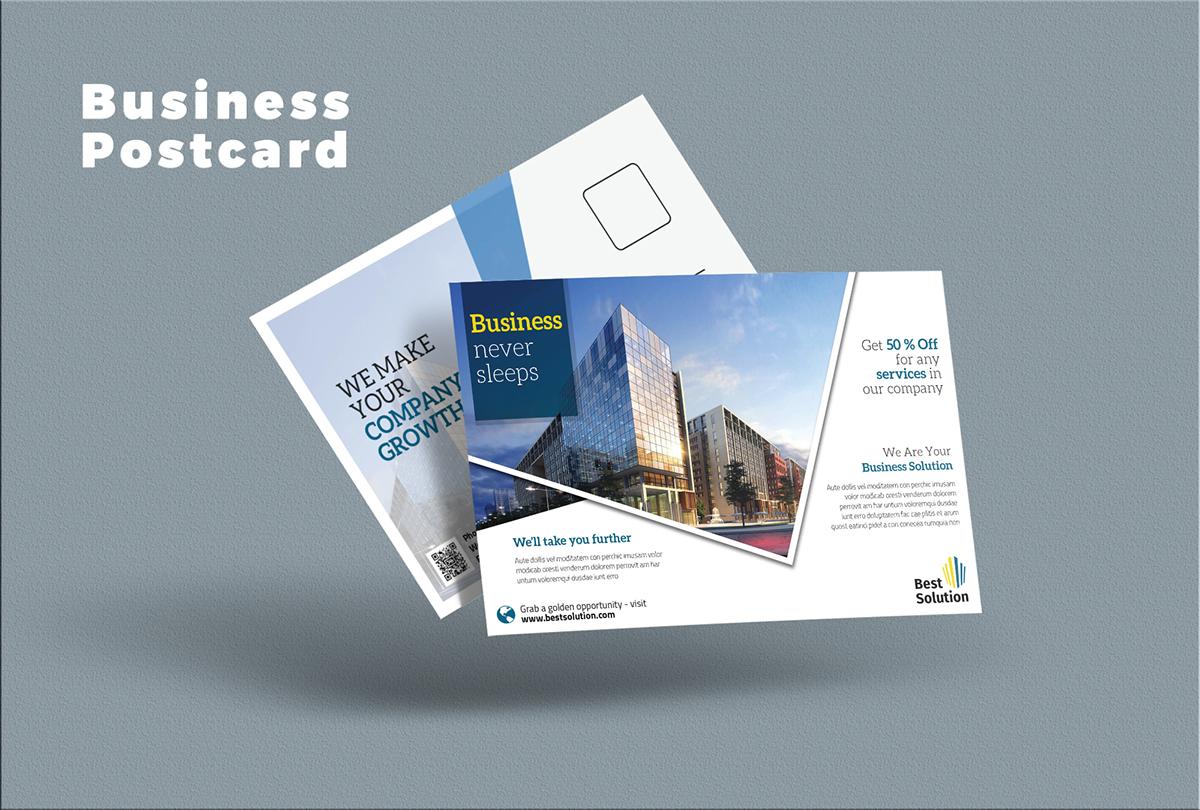 Business Postcard on Behance