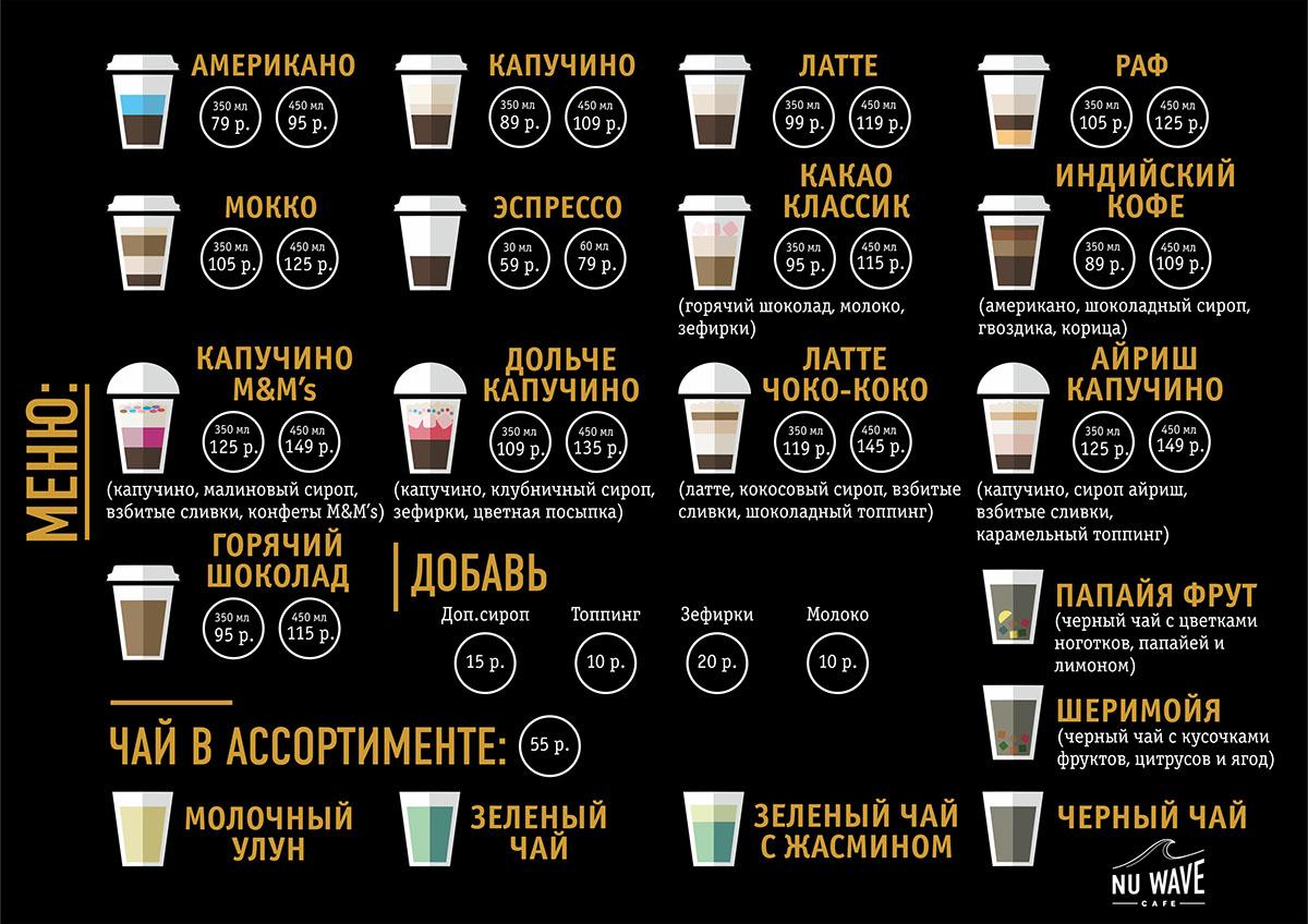 design menu Coffee cafe
