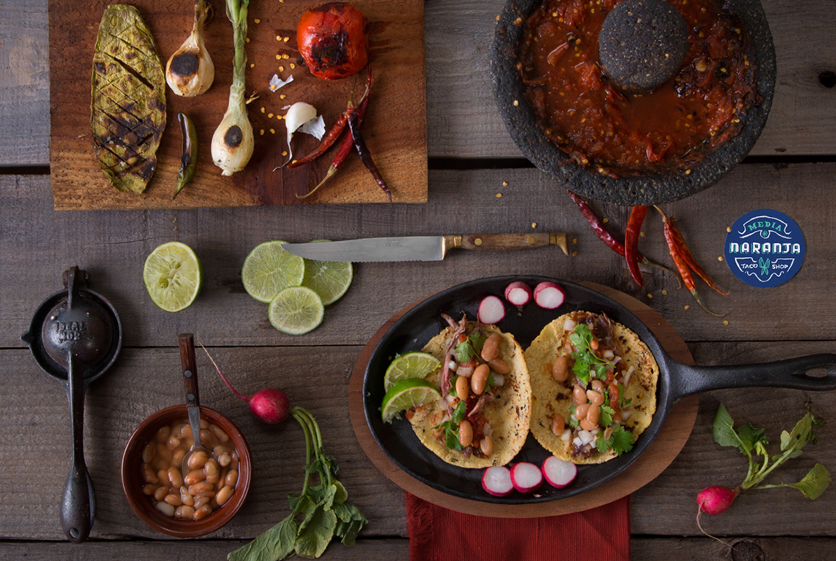 identity logo pattern lettering Retail Food  taco salsa spicy