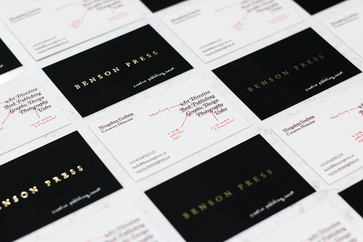 Benson Press — Personal Business Cards on Behance