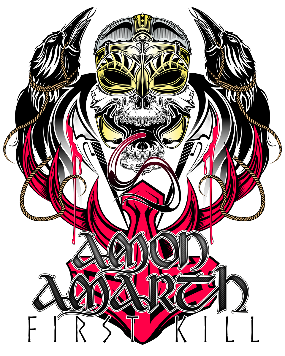 amon amarth first kill poster on behance rh behance net heavy metal band posters UFO Band Posters